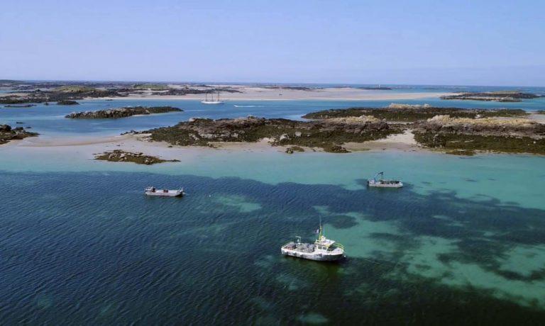 Tournage drone sur les Iles Chausey pour le laboratoire Biothalassol